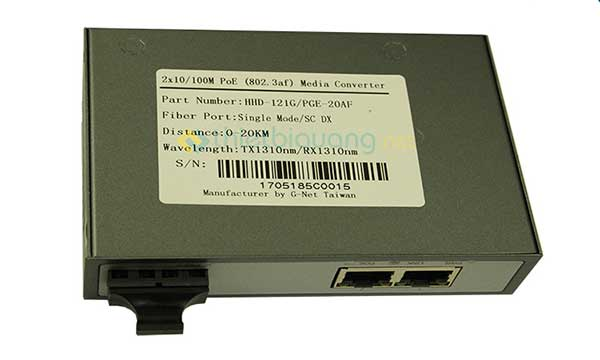 Switch quang PoE 2 Port